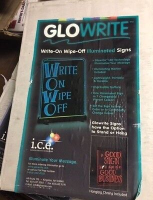 Glowrite Led Illuminated Sign 12 X 18 Write On Wipe Off Message Board
