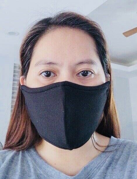 WHOLESALE! 100 PCS. 3 PLY WITH FILTER WASHABLE COTTON MASKS,FREE SHIPPING