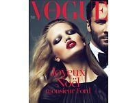 RARE Vogue Paris 2011 12/2010 Tom Ford Abbey Lee Crystal Renn Marisa Berenson