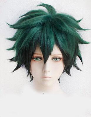 My Hero Academia Izuku Midoriya Wig Green And Black Cosplay Short Wig + Wig Cap