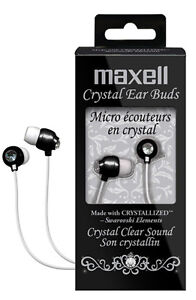 Maxell Crystal Earbuds made w/ Crystallized Swarovski Elements for iPod & iPhone