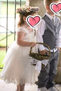Flower girl dress and flower halo