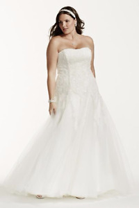 Wedding dress brand new with tags size 22!
