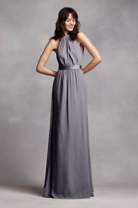 size 8 Vera Wang Pewter Bridesmaid dress