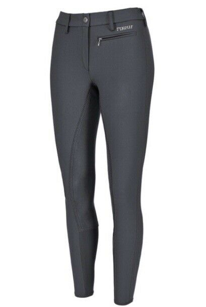 Pikeur Full Seat Breeches-Lugana-Size 38 in Anthracite(Dark Grey)