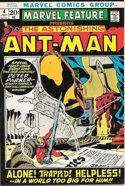 Marvel Feature Comic Book #4 Ant-Man Marvel Comics 1972 FINE+