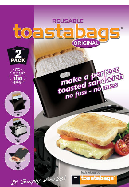 2 x TOASTABAGS ORIGINAL BLACK Toasted Sandwich FREE P&P FOR UK DELIVERY