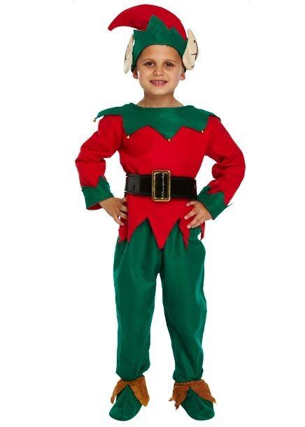 Bambini Ragazzo BABBO NATALE 5 PZ Costume Natale Vestito Up Costume Natale Vestito Da