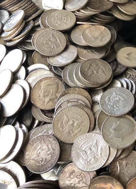Best  1964 KENNEDY COIN LOT - 90% SILVER HALF DOLLAR COINS COLLECTION