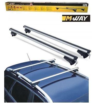 M-Way 135cm Locking Aluminium Roof Rack Rail Bars for Peugeot Partner Tepee 08/>