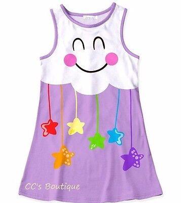 Kawaii 4 Girls (Girls SUNSHINE SWING kawaii cloud dress 4 5 6 7 8 10 NWT rainbow stars)