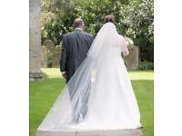 Elizabeth Dickens Cathedral Length Veil