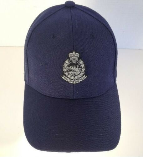 Cap #1b - Royal H. K .P black & silver small badge,