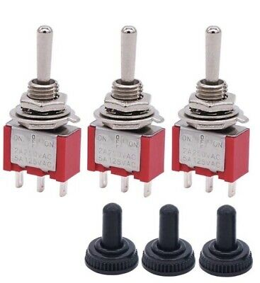 3 Mini Momentary Toggle Switch Spdt 3 Position 3 Pin Ac 5a125v 2a250v Boat Car