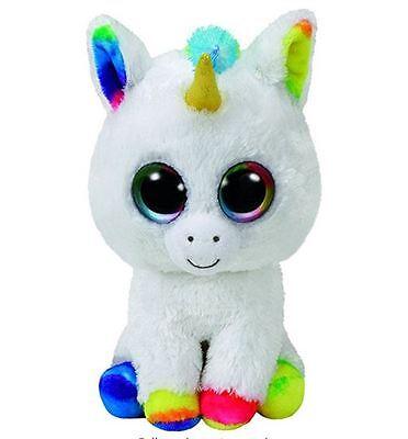 """TY Beanie Boos Pixy - 6"""" White Unicorn Reg Plush"""