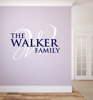 Personalized Family Name Monogram #12 Living and Family Room Vinyl Wall Decal