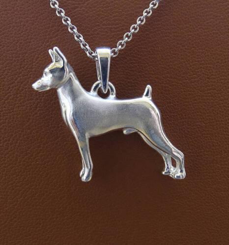Sterling Silver Miniature Pinscher Pendant