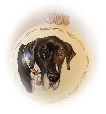 Custom pet portrait painting - memorial dog portrait 4 in Christmas ornaments