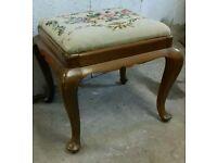 Walnut dressing stool