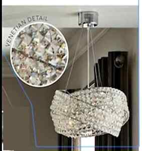 NEXT Venetian 5 Light Clear Ceiling Lighting Amp Chandelier