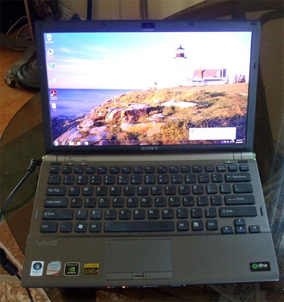 SONY VAIO Z VGN-Z530 Duo core 2.4G 4Gb memory 500Gb hard drive 1600x900  win7