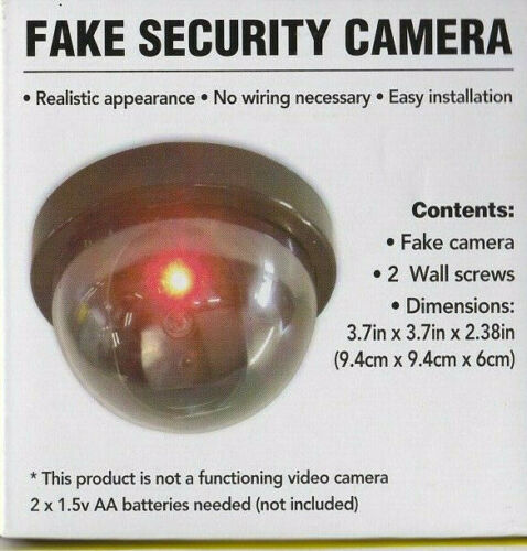 FAKE SECURITY CAMERAS ***FREE BATTERIES!!!*** Mountable