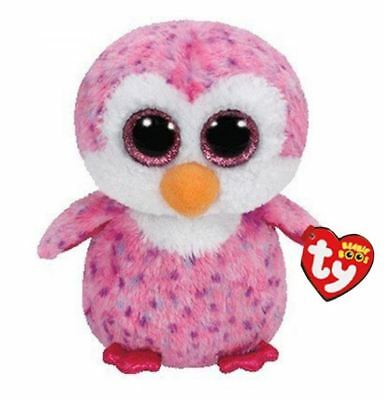 Penguin 6 Ty Beanie Boos Whiskers Puppy Glitter Eyes Plush Stuffed Animals Toys
