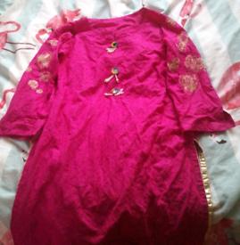 Pink woman's dress