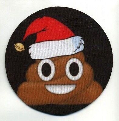 Poop Emoji Christmas Holiday COASTER -  Santa