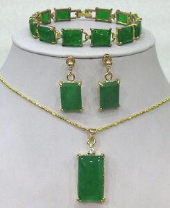 Green-Jade-bracelet-earrings-Necklace-Pendant-Set-AAA
