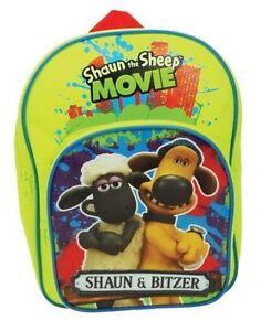 fda3b8a968 Shaun The Sheep Backpack Kids Girls Boys School Book Bag Luggage Toy ...
