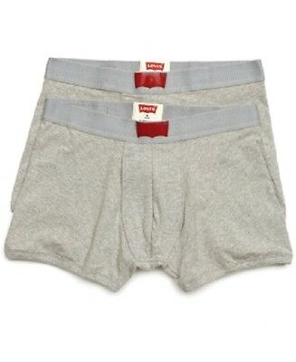 Levi's Men's 200 Series Cotton Stretch 2 Pack Boxer Briefs Underwear Gray Size M