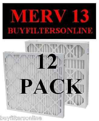 12 Pack Gf Quality Merv 13 Furnace Ac Pleated Air Filters