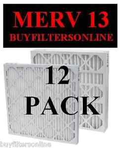 12-PACK-QUALITY-MERV-13-FURNACE-AC-PLEATED-AIR-FILTERS