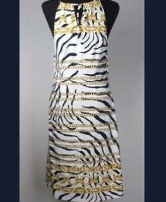 BNWT J.Mclaughlin Catalina Maria zebra chain dress M medium
