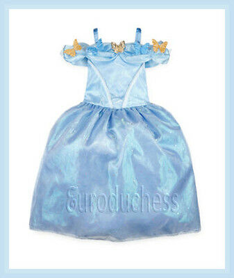 Disney CINDERELLA LIVE ACTION Deluxe Costume Blue Dress Sz 9 10 Girl Princess ](Deluxe Disney Princess Costumes)
