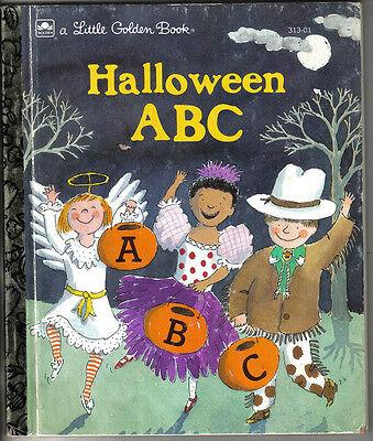 Halloween Abc Golden Book (1993 Little Golden Book #313-01, Halloween ABC by Sarah)
