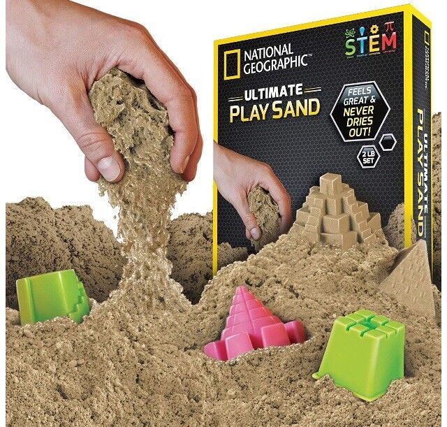 🚛Fast Shipping! National Geographic Natural Kinetic Play Sand Molds & Tray