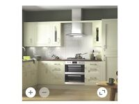 Cream shaker Kitchen For Sale with or withought appliances