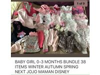 BABY GIRLS CLOTHES Bundle 0-3 Months very good condition