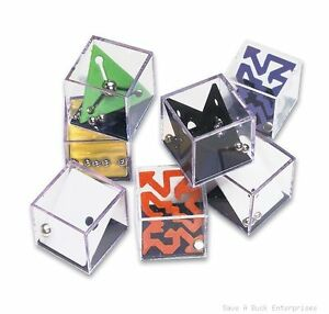 144 mind teaser puzzle rolling ball children game pieces wholesale 12