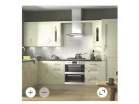 cream Shaker kitchen for sale with or without appliances