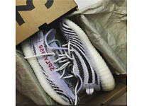 Yeezy zebra boost 350 V2 (never worn) size 9