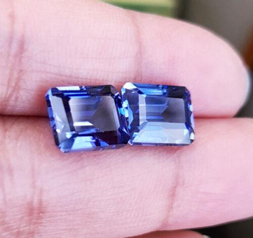 Pair_9x7mm. 7Cts. OCTAGON BLUE CYLON SAPPHIRE EXCELLENT COLOR TOP LOOSE GEMs