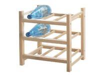 Solid wood wine rack IKEA