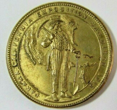 1915 Panama-Pacific International Exposition Bronze Medal Coin HK-427 AU-AU+