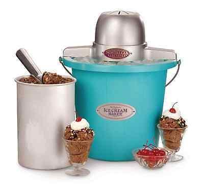 Electric Ice Cream Maker Machine Homemade Freezer Home Automatic Churner Bucket