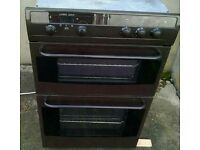 Whirlpool double electric built in fan oven and grill very good condition black