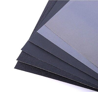 GJDM06 10pcs Sandpaper Mixed Grit 220-2000 Silicon Carbide Model Making Tool NEW