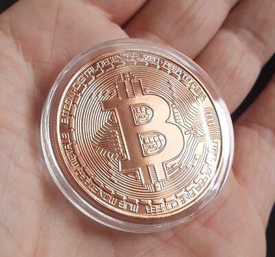 BITCOIN 1oz Pure Copper Physical Bitcoin Proof Coin - FAST SHIP!! - USA ! ! !